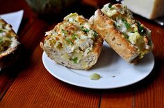 Cheesy Artichoke French Bread Recipe! Try making with Jimmy John's Day Old French Bread!