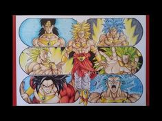 Drawing the Evolution of Broly the Legendary Super Saiyan - YouTube