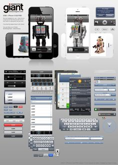 iphone 5 and ios 6 gui kit