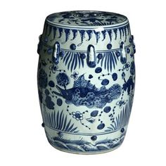 Handmade Fish Motif Chinese Porcelain Garden Stool (China) - Overstock™ Shopping - Great Deals on Garden Accents $139