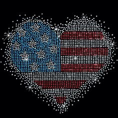 WOMEN'S SWEATSHIRT OR HOODIE PATRIOTIC HEART RHINESTONE SM - 3XL 4TH JULY FLAG #VARIOUS #YOURCHOICE