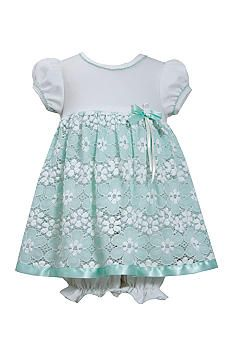 Bonnie Jean® Short Sleeve Coverall with Floral Lace Overlay Dress and Bloomers Lace Overlay Dress, Lace Dress, Bonnie Jean, Easter Dress, Baby Girl Dresses, Floral Lace, Designer Dresses, Rompers, Summer Dresses