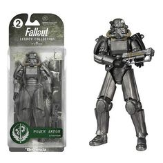 Don't wander the Wastes without the right protection! This Fallout Power Armor Legacy Collection Action Figure features the iconic armor from the Fallout Series. Figure comes with a gun to fight off t