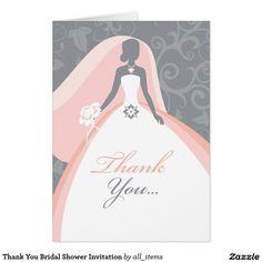 Thank You Bridal Shower Invitation