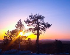 Sunset in Levi Ski Resort