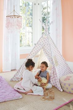 It's always fun to have their friends over for a sleepover! Our Dotted Teepees create a special space for playtime and imagination that can also be a fun secret hideout for best friends.