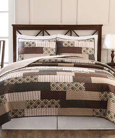 Look what I found on #zulily! Autumn Stripe Quilt Set #zulilyfinds