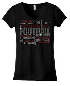Football Terms bling shirt