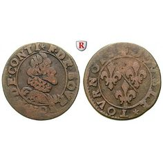 Frankreich, Chateau-Renaud, Francois de Bourbon, Prince de Conti, Double Tournois 1605, f.ss: Francois de Bourbon,… #coins #numismatics