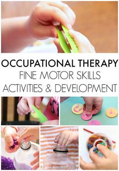 Occupational Therapy fine motor skill development and treatment ideas.  This is a resource for parents, teachers, and occupational therapists who are treating students and children with fine motor development difficulties in handwriting, scissor use, self-care tasks, and functional skills.