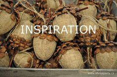 acorn craft ~ how to directions using plastic egg, burlap and pine cones