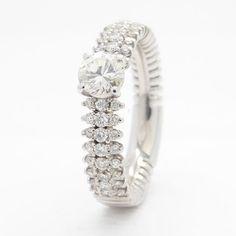 Online veilinghuis Catawiki: Witgouden ring met 1.06 ct. aan diamant