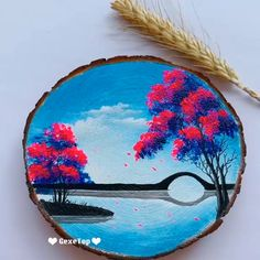 Excellent Photographs Beautiful Acrylic Painting Video Tutorial Part 91 Suggestions Beautiful Acrylic Painting Video Tutorial Part 91 Canvas Painting Tutorials, Acrylic Painting For Beginners, Wood Painting Art, Rock Painting Designs, Painting Videos, Wood Art, Pop Art Drawing, Girly Drawings, Mini Canvas Art