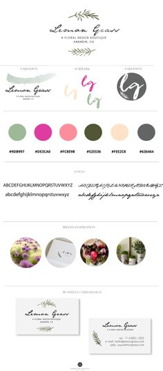 Lemon Grass Florist · Hamptons Designs #floral #boutique #logo #design #custom #premade #branding #watercolor #graphicdesigner @ hamptonsdesigns.com