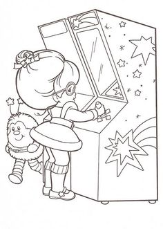 Rainbow Brite coloring page Candy Coloring Pages, Cupcake Coloring Pages, Bear Coloring Pages, Disney Coloring Pages, Coloring Pages For Kids, Coloring Books, Doodle Coloring, Coloring Sheets, Free Adult Coloring
