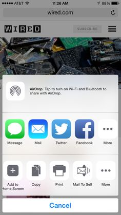 """Glad to see others doing this! Good app to add to home screen.  """"Despite Dropbox, Photostream, Reminders, and all other manner of cross-platform sharing options, I still find myself emailing... THIS.  THAT.  INTERESTING THINGS.  DONNA MURDOCH"""