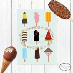laminas helados, laminas polos, laminas ice cream, laminas verano, laminas A4, laminas A3, laminas imprimibles, laminas decoracion, cuadros helados, cuadros verano, laminas bonitas, laminas decorativas, laminas azules, laminas comida, comida, postres, helados, polos
