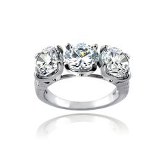 Icz Stonez Sterling Silver 1/10ct TGW Cubic Zirconia Half Eternity Ring