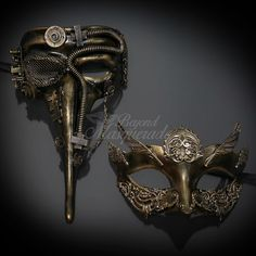 Masquerade Mask New Steampunk Copper Electric Tubes Halloween Costume Unisex