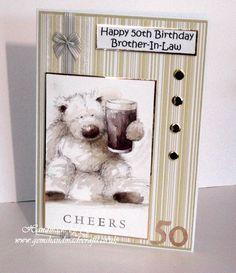 Wellington 50th Birthday Card Birthday Brother In Law, Invitation Ideas, Invitations, 50th Birthday Cards, Men's Cards, Tatty Teddy, Masculine Cards, Handmade Crafts, Card Ideas
