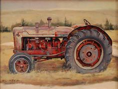 West Boulder Spring by Rob Akey Oil ~ 16 x 12  Tractor painting, www.RobAkey.com
