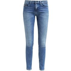 Calvin Klein Jeans MID RISE SKINNY ($140) ❤ liked on Polyvore featuring jeans, pants, mid rise skinny jeans, skinny leg jeans, mid rise jeans, super skinny jeans and denim skinny jeans