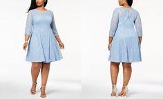 SL Fashions Plus Size Sequined Lace Dress - Dresses - Plus Sizes - Macy's