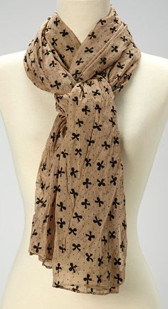 Beige Bow Scarf- looks just like my other scarf!!!