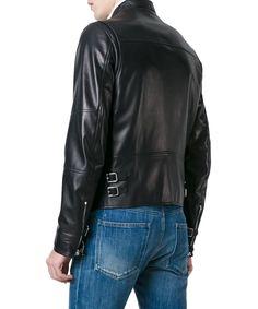 VALENTINO Valentino Men'S Mv3Na70P2Ad0No Black Leather Outerwear Jacket'. #valentino #cloth #coats & jackets
