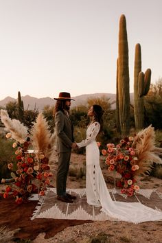 This Saguaro National Park East Wedding Inspo Features All the Colors of the Desert Sunset | Junebug Weddings
