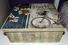 Cajas                                                                                                                                                                                 Más Decoupage Wood, Decoupage Vintage, Candy Crafts, Diy Crafts, Sweet Box, Altered Boxes, Painting On Wood, Tole Painting, Box Design