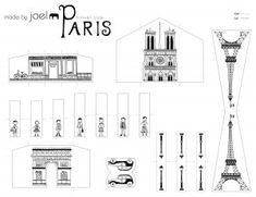 Made by Joel » Made by Joel Travel Size Paper City Paris Template