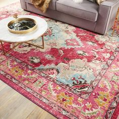 Safavieh Monaco Pink/ Multi Rug (8' x 11') - Free Shipping Today - Overstock.com - 18657565 - Mobile