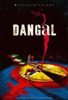 Dangal 2016 (The Best of Dangal is a 2016 Indian biographical sports drama film directed by Nitesh Tiwari. Starring Aamir Khan as Mahavir S. Iconic Movie Posters, Minimal Movie Posters, Minimal Poster, Movie Poster Art, Iconic Movies, Poster On, Film Posters, Dangal Movie, Movie Titles