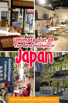 Ultimate List of The Best Hostels in Japan, providing you with the ultimate list of the BEST HOSTELS IN JAPAN - includes rates, locations and great reviews.