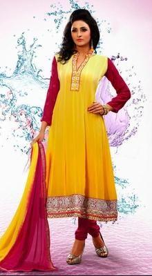 Fascinating Yellow Chudidar Kameez
