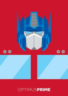 Just a vector flat portrait of the mighty Optimus Prime! Availablenow onsociety6.com/ilpizza