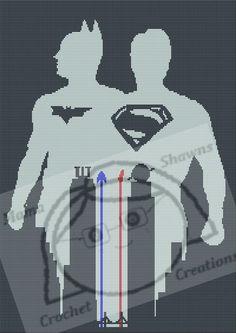 Batman vs Superman - Written Pattern, Graphghan by MamaShawns on Etsy