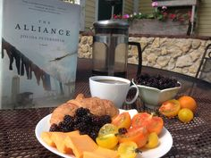 Lunch break from the market garden work to read The Alliance, by Jolina Petersheim and enjoy some of the fresh foods I have been picking from our homestead and gardens!