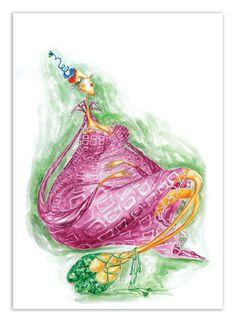 o mândră viitoare mamă - ilustratie in acuarele de Gratiela Aolariti