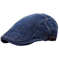 f63122efdb2 Unisex Beret Peaked Cap Jean Cowboy Hat Washed Denim Cotton Advance Casual  Hats sold out -