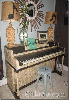 See what some sheet music and a little #modpodge can do to a FREE #piano STUNNING