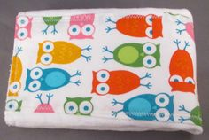 Modern Owl Burp Cloth