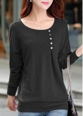 Round Neck Long Sleeve T Shirt on sale only US$24.95 now, buy cheap Round Neck Long Sleeve T Shirt at lulugal.com