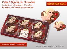 Ofereça a sua cara metade uma bela caixa de bombons e figuras de chocolate!