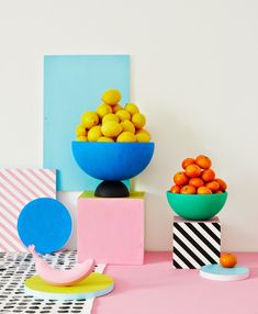 TREND - MEMPHIS Charlotte Love is a London-based interior stylist and set designer who recently made a color pop series with still-life photographer Joanna Henderson for Heart Magazine. The talented prop designer . Design Set, Web Design, Pop Art Design, Happy Design, Studio Design, Design Ideas, Memphis Design, Memphis Art, Memphis Milano