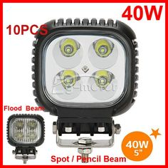 """520.30$  Buy here - http://alijqu.worldwells.pw/go.php?t=32222785189 - """"10PCS 5"""""""" 40W CRE 4LED*10W Driving Work Light Offroad SUV ATV 4WD 4x4 9-32V Spot / Flood Beam 3800lm IP67 High Power Truck Lamp"""""""