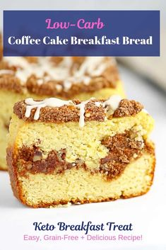 This Keto Coffee Cake Breakfast Bread is beyond delicious! This Keto Coffee Cake Breakfast Bread is beyond delicious! Breakfast Dessert, Low Carb Breakfast, Breakfast Recipes, Free Breakfast, Keto Pancakes, Gluten Free Baking, Low Carb Recipes, Free Recipes, Healthy Recipes