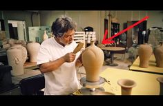 WATCH: He Starts Off By Hitting This Vase With A Mallet. When He Finishes... It's A Masterpiece.