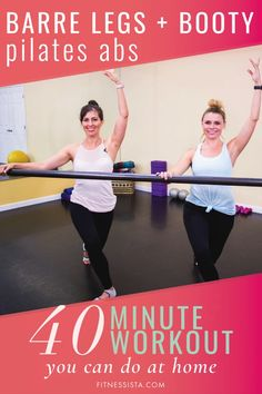 Fulllength barre and Pilates ab workout video The Fitnessista is part of fitness This is a classic barre workout focusing on legs and booty, with a Pilates core segment Diastasis Recti and beginne - Pilates Abs, Pilates Training, Pilates Video, Pilates Workout, Barre Workouts, Beginner Pilates, Beginner Workouts, Training Workouts, Sixpack Abs Workout